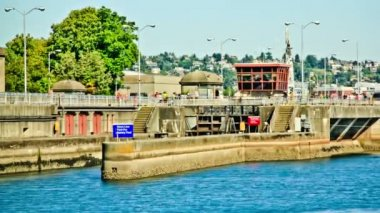 Ballard Locks Time Lapse — Stock Video