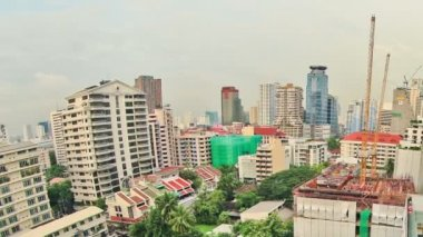 バンコク都市景観の時間の経過パン — ストックビデオ