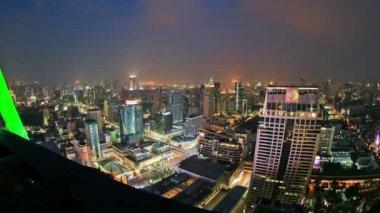 Bangkok Cityscape Time Lapse Zoom — Stock Video