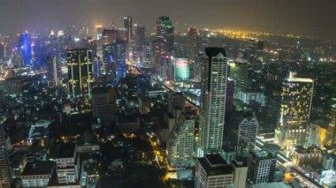 Bangkok Cityscape Time Lapse Fisheye Zoom — Stock Video
