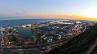 Barcelona Shipyard Time Lapse — Stock Video