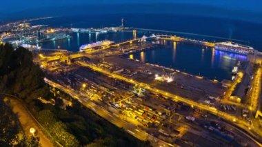 Barcelona Shipyard Time Lapse Zoom — Vídeo stock