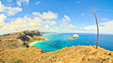 Bay Time Lapse Oahu Fisheye — Stock Video