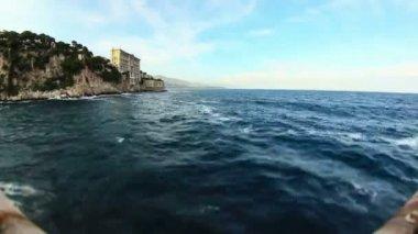 Coastline shore in Monaco — Wideo stockowe