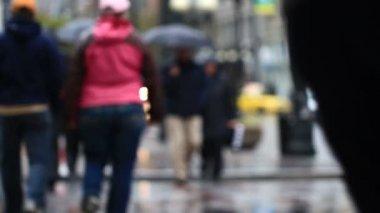 City pedestrian traffic — Vídeo de stock