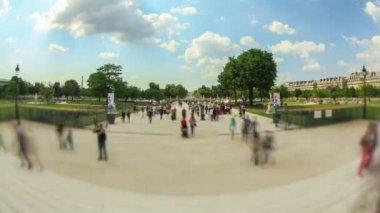 Pedestrian traffic in Paris. — Stock Video