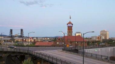 Broadway and Steel bridges in Portland — Stock Video