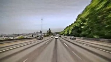 Seattle highway driving — Stock Video