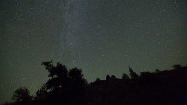 Star time lapse in Oregon desert — Vídeo stock