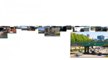 Flying video screens — Stockvideo
