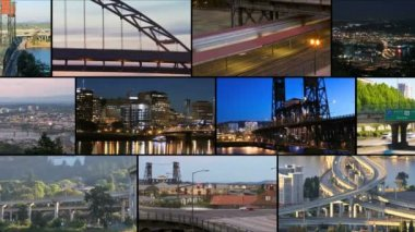 Portland City Traffic — Stock Video