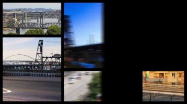 Portland bridges related media — Stockvideo