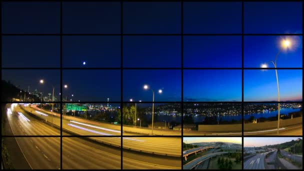 City and transportation clips — Vídeo de stock