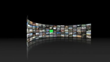 Video wall of transportation videos — Stock Video