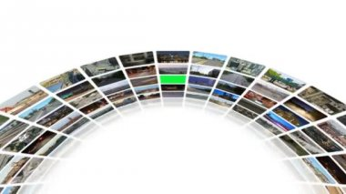 Video wall of transportation videos — Stock Video