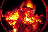 Live coals — Stock Photo