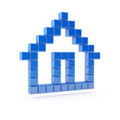 House icon. Home pixelated symbol render — Stock Photo