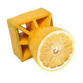 Aerial lemon bomb — Stock Photo