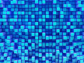 Abstract image of blue cubes — Stock Photo