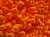 Abstract orange cubes — Stock Photo