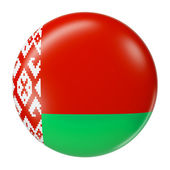 Belarus flag glossy badge — ストック写真