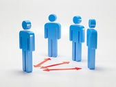 Leader with group. Teamwork organization — Stock Photo