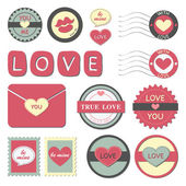 Happy Valentines day, symbols,with love — Stockvector