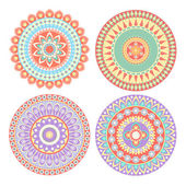 Colorful Circle Indian Pattern Vector — Stock Vector