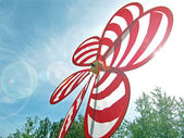 Toy windmill on a bright day — Stock Photo