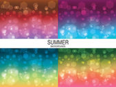 Summer backgrounds set — Stock Vector