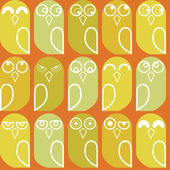 Owls seamless — Stock Vector