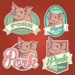 Pork labels — Stock Vector