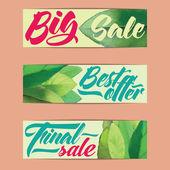 Sales labels — Stock Vector