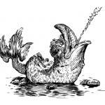 Fish fountain — Stock Vector #47154591