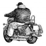 Постер, плакат: Motorcyclist