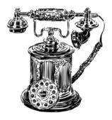 Antique phone — Stock Vector