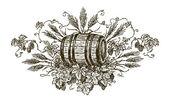 Beer cask — Stock Vector