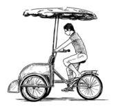 Bicicleta taxi — Vector de stock