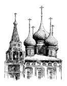 Cathedral of Yaroslavl, Russia — Vecteur