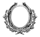Decoratief ronde frame — Stockvector