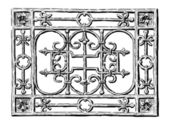 Forged grate — Stockvector