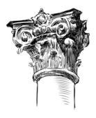 Antique pillar — Stock Vector