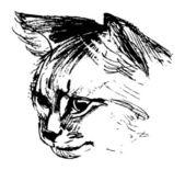 Head of a cat — Stock Vector