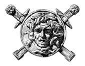 Head of Medusa the Gorgon — Stock Vector