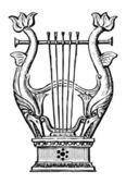 Decorative lyre — ストックベクタ