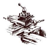 Metalwork machine — Stock Vector