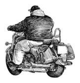 Motorcyclist — Stock Vector