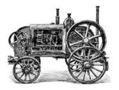 Oude agrarische machine — Stockvector