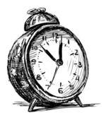 Eski çalar saat — Stok Vektör