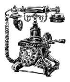 Starý telefon — Stock vektor
